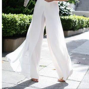 NWT pants with overlay skirt